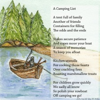 A Camping List by Gina Wilson and JoDee Luna