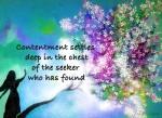 Contentment Settles, Art by Elya Filler Poem by JoDee Luna
