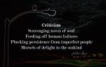 Criticism by JoDee Luna