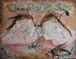 Full Wings for Full Flight Mixed Media by JoDee Luna