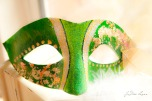 Green Mask with Gold Leafing Created by JoDee Luna and Andrea Luna