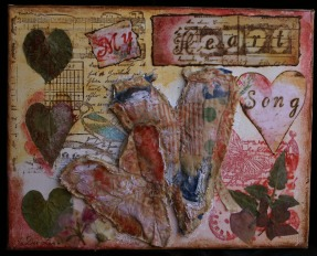 Heart Song Mixed Media by JoDee Luna1200