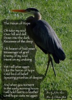 Heron of Hope by JoDee Luna