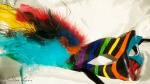 Parrot Mask Created by Elya Filler