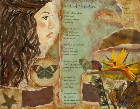 Surrender Bird of Paradise Mixed Media by JoDee Luna
