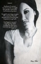 The Muse of Memoir, Charcoal by Elya Filler, Poem by JoDee Luna