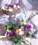 Lavender Nest with Springs
