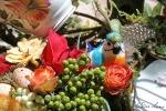Orange tea cup floral