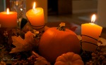 Pumpkin Centerpiece with Rusty Bed Springs Accented Edges