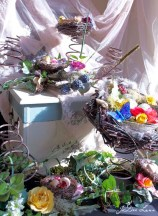 Spring Nests with Salt Box