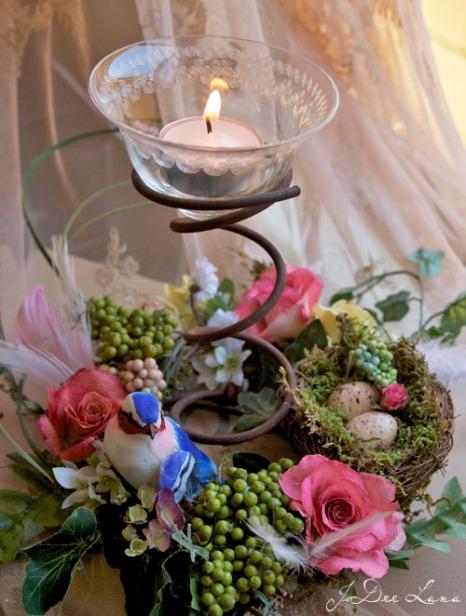 Votive Bed Coil Floral