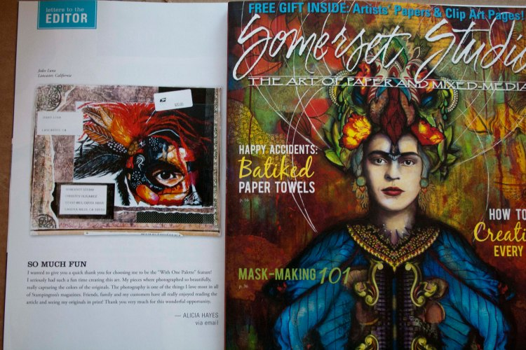 Warrior Princess Painting Featured in Somerset Magazine