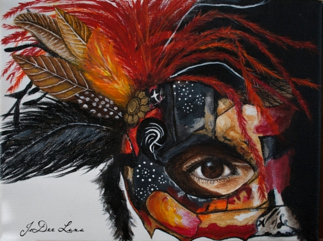 Warrior Princess Mask Acrylic by JoDee Luna
