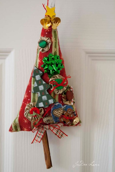 Christmas Tree Ornament Stripped Fabric_778