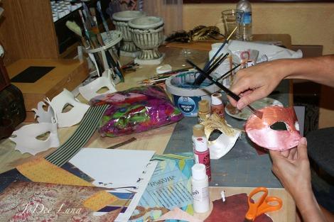 Painting Masquerade Masks JoDee Luna