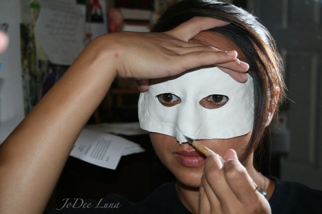 Sculpting Masquerade Mask on Face JoDee Luna