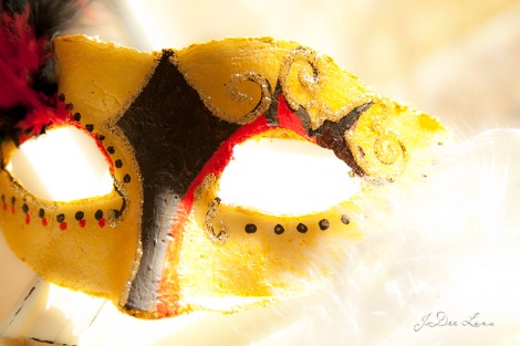 Jester Mask Yellow Black Red