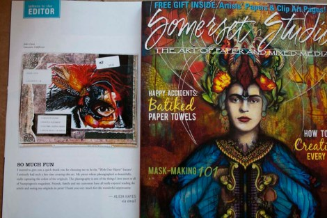 Warrior Princess Painting Featured in Somerset Magazine_960