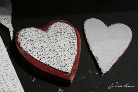 Plaster Cloth Over Wooden Heart