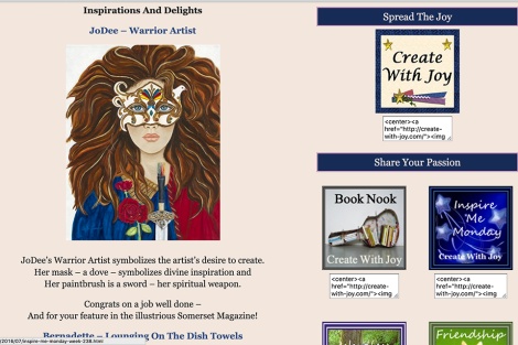 Warrior Artist by JoDee Luna Featured on Create With Joy
